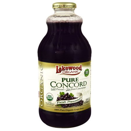 Lakewood Organic Juice  Concord Grape  32 Fl Oz  1 Count