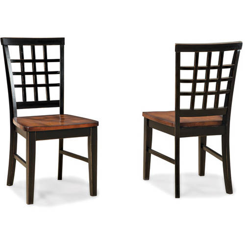 Imagio Home Arlington Lattice Back Dining Chairs   Set Of 2, Black And Java