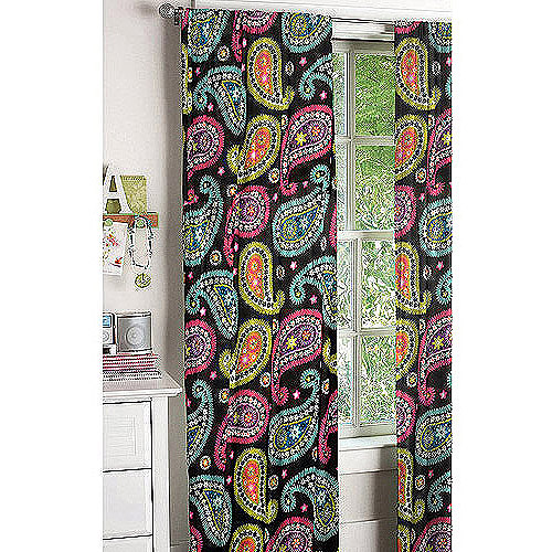 Bright Paisley Window Panels, Set of 2