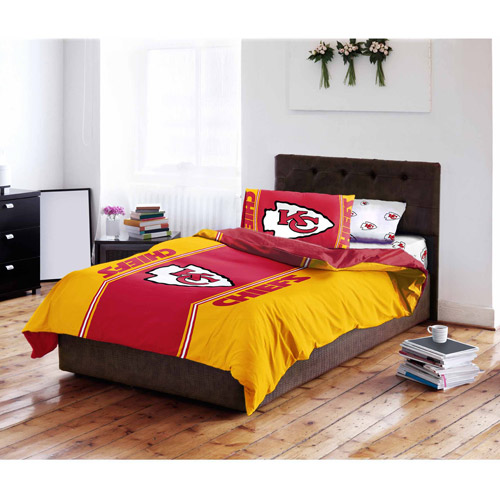 NFL Kansas City Chiefs Bed in a Bag Complete Bedding Set