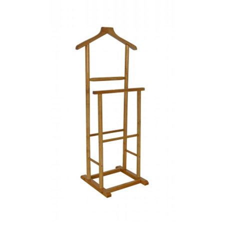 42.13 x 14.17 x 18.9 in. Antiqued Double Men Suit Valet Stand with Suit Hanger ()