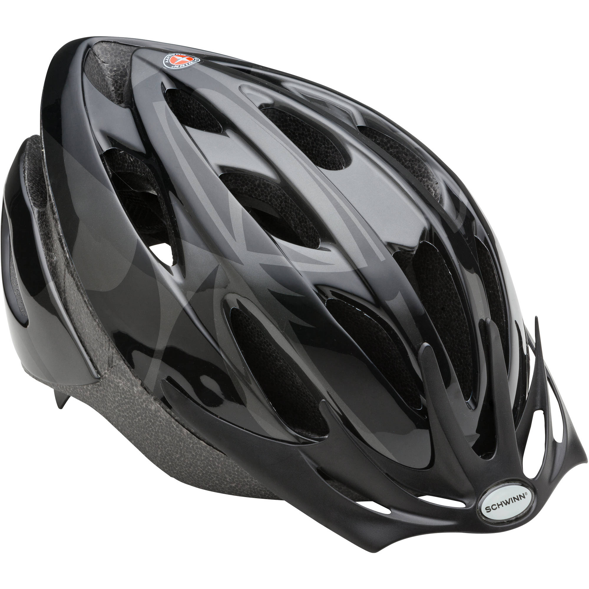 Schwinn Black Lighted Thrasher Helmet, Adult