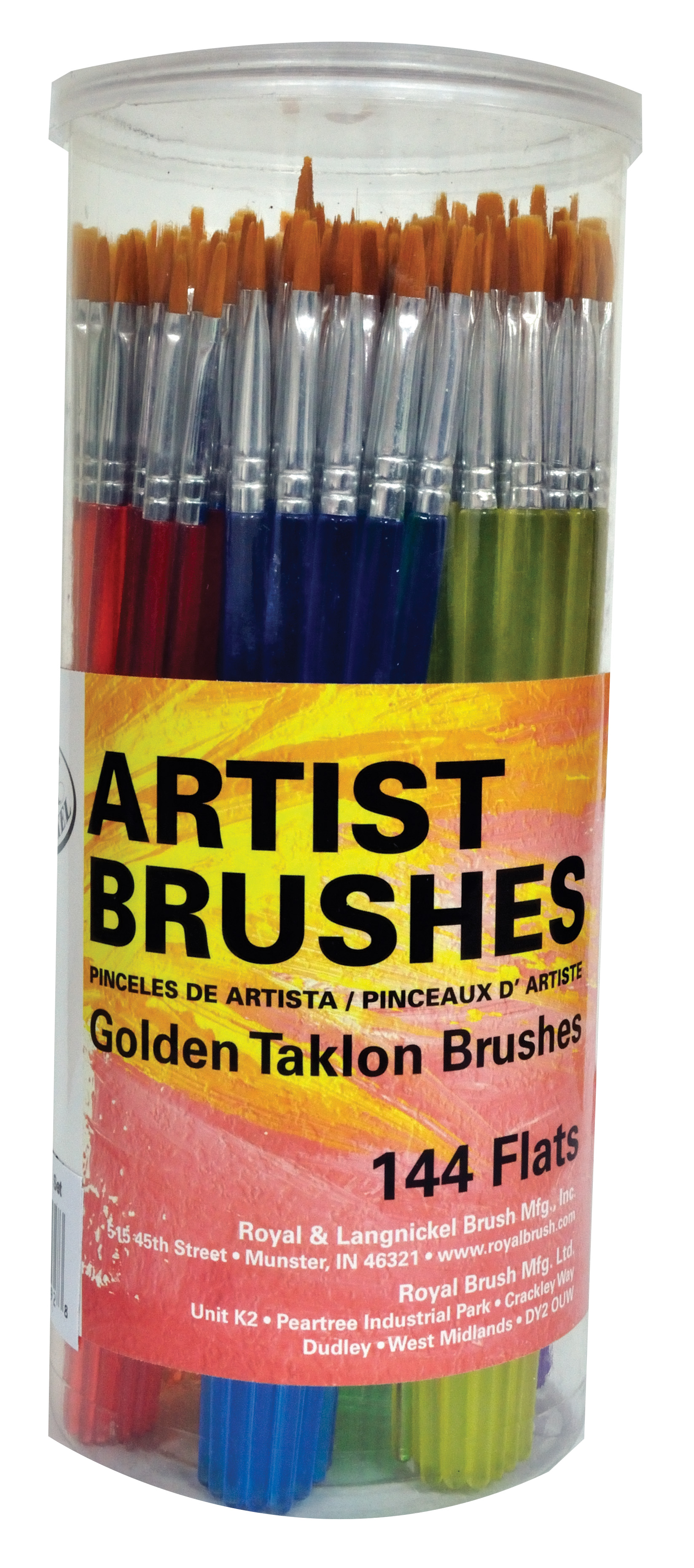 144 x Round Brushes Royal Langnickel Artists Super Value Brush Set