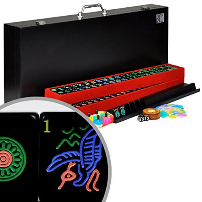 Full American / Western Mahjong / Mah Jongg Set with Blac...
