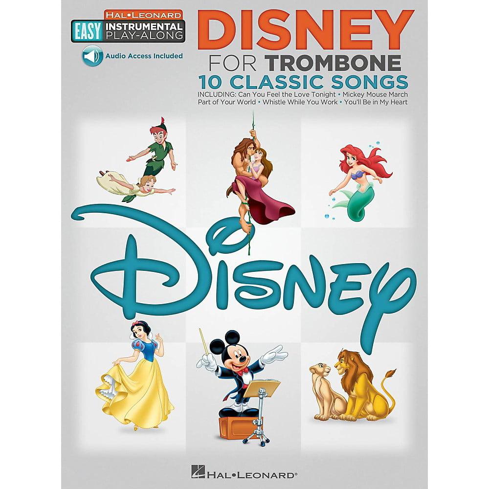 Hal Leonard Disney - Trombone - Easy Instrumental Play-Along Book with Online Audio Tracks