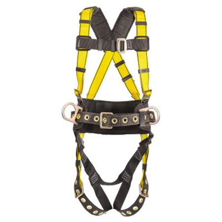MSA Safety 10077571 Construction Harness, BACK & HIP D-rings, Standard -