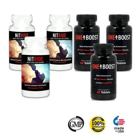 L'oxyde nitrique Booster & testostérone Booster, L-Arginine et Tongkat Ali suppléments 6 Pack - Boost débit sanguin et augmenter la libido, améliorer les structures mâles, pré-entraînement X-énergie (6 bouteilles)