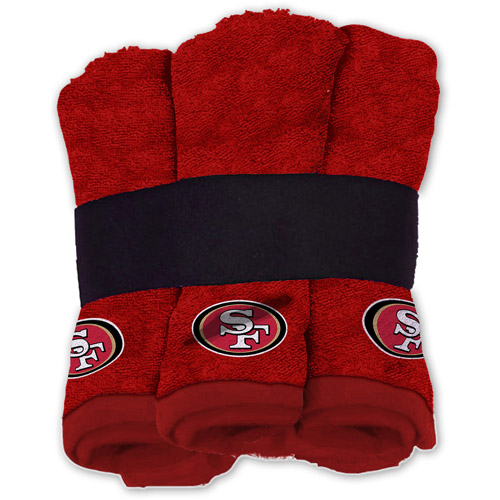 NFL Wash Cloth Set, 6pk, San Francisco 49ers