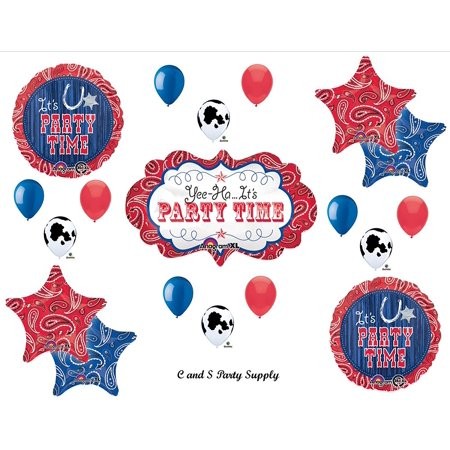 WESTERN BANDANA MARQUEE Birthday PARTY Hoedown Rodeo Balloons Decorations Supplies Horse Cow by, Western Rodeo Balloons Decorations Supplies By - Hoedown Party