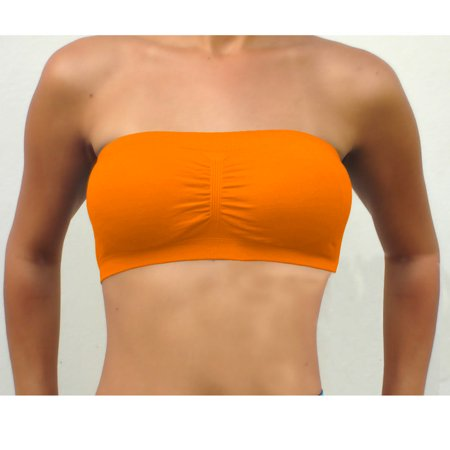 0513d143c1 1 Womens Strapless Padded Bra Bandeau Stretch Tube Top Removable Fashion  Sports Image 1 of 4