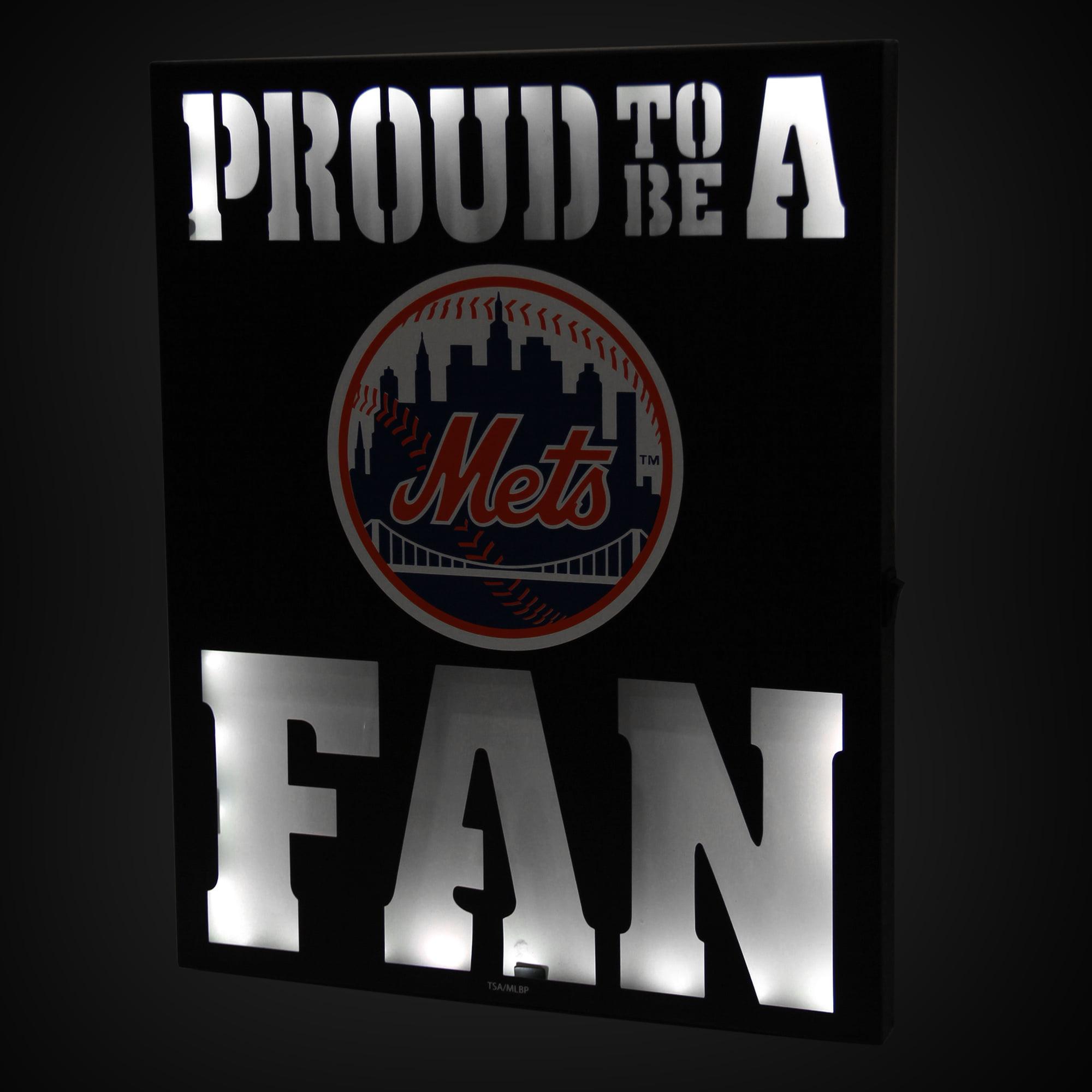 "New York Mets 12"" x 15"" LED Metal Wall Decor - No Size"