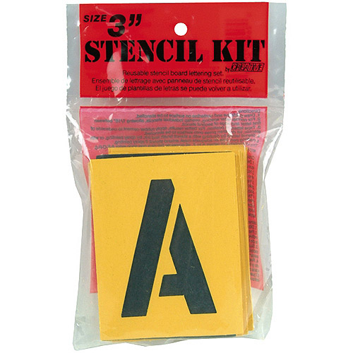 Reusable Stencil Lettering Kit