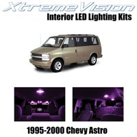 XtremeVision LED for Chevy Astro 1995-2000 (11 Pieces) Blue Premium Interior LED Kit Package + Installation Tool