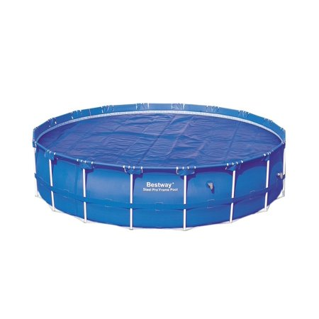 Bestway 15 Foot Round Above Ground Swimming Pool Solar