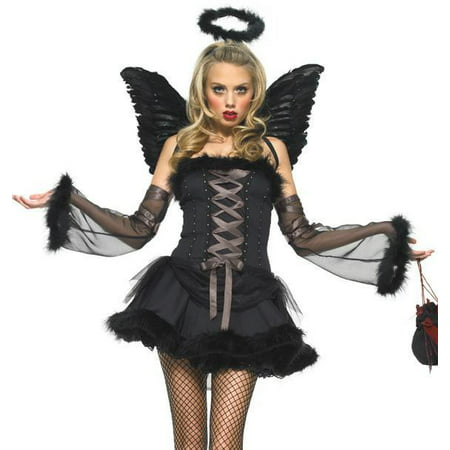 Leg Avenue Sexy Adult Womens Gothic Dark Angel Halloween Costume (Angel Costume Womens)