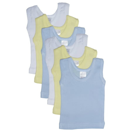 Boys' Six Pack Pastel Tank Top (Satin Bow Tank Top)