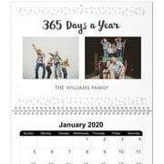 8x11, Same Day 12 Month Photo Calendar