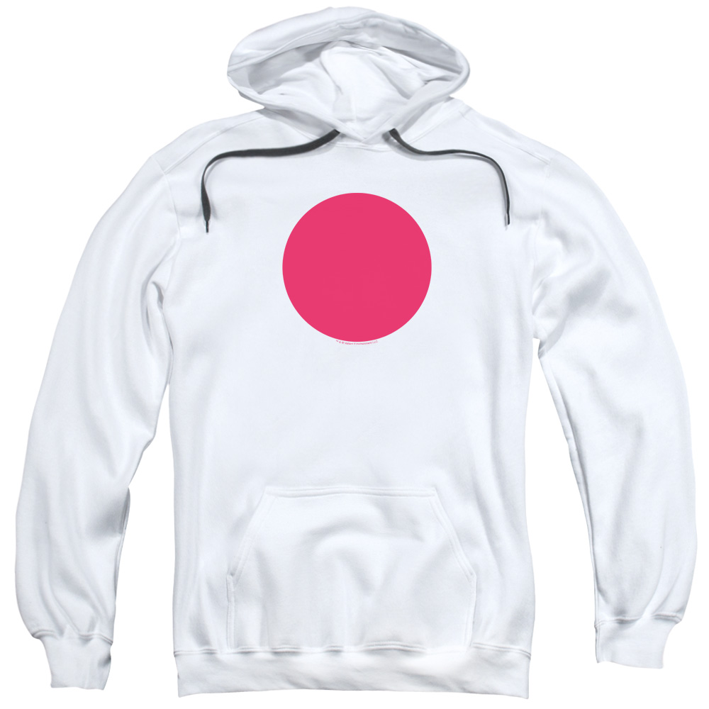 Bloodshot/Spot Adult Pull Over Hoodie White  Val114