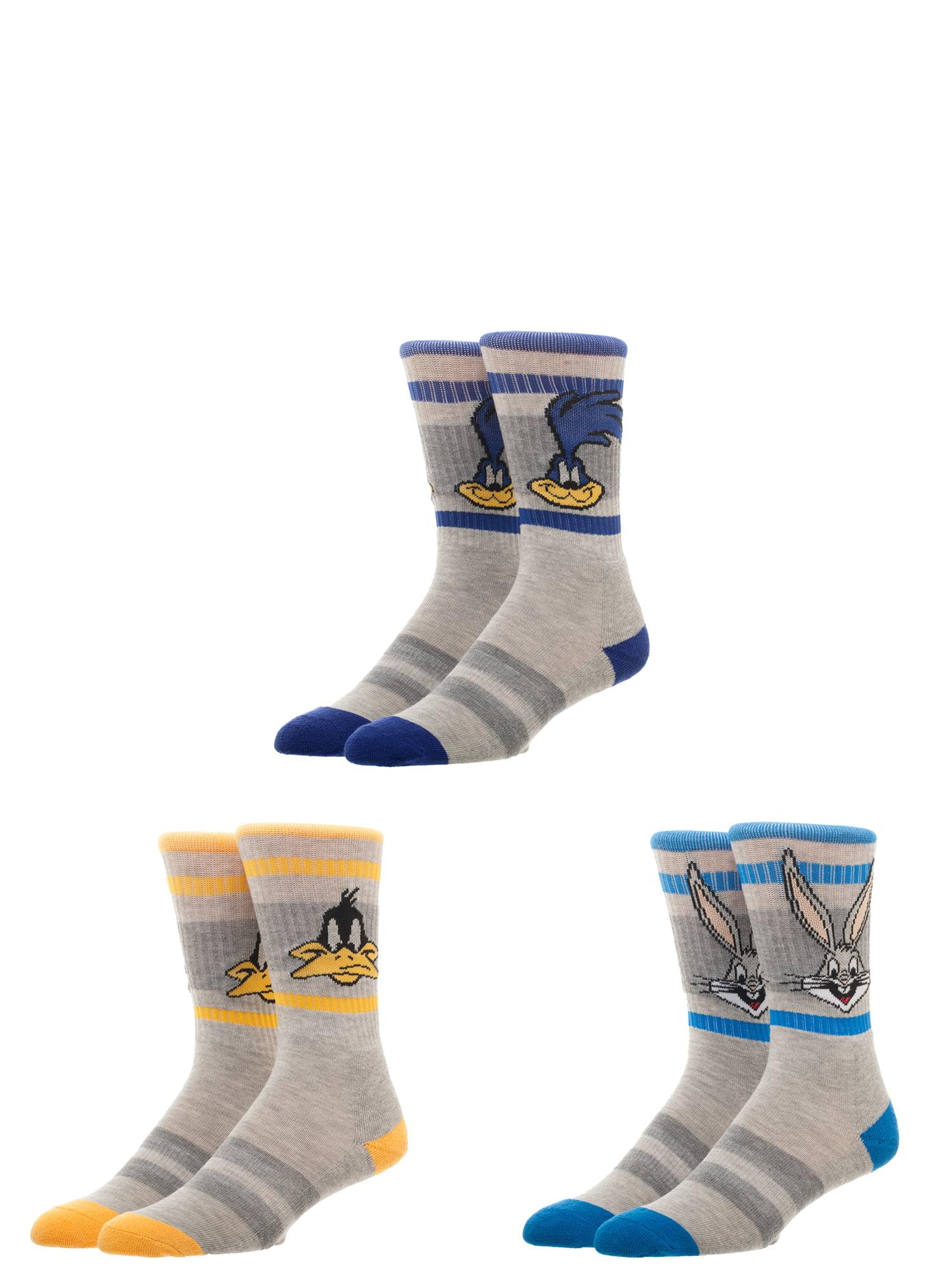 Adult Shark Head Pattern Athletic Crew Socks