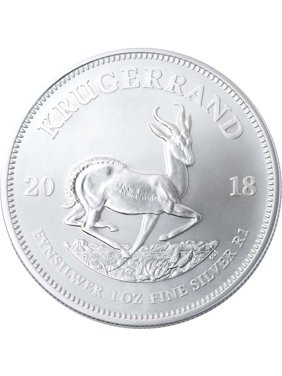2018 Silver Krugerrand 1 oz South African Silver Coin - First BU Release