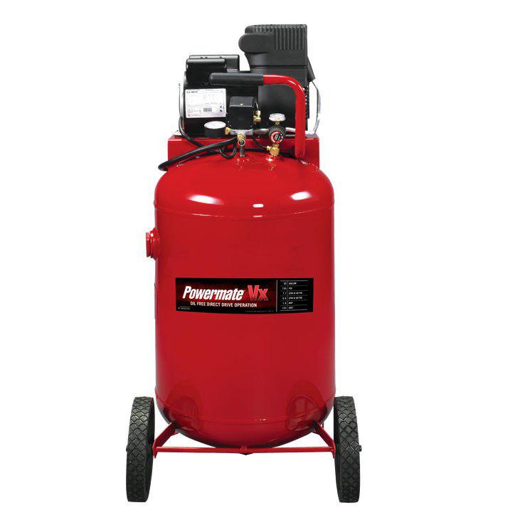 Powermate PLA1983012 VX 30 Gallon Direct Drive Oil-Free Portable Air Compressor