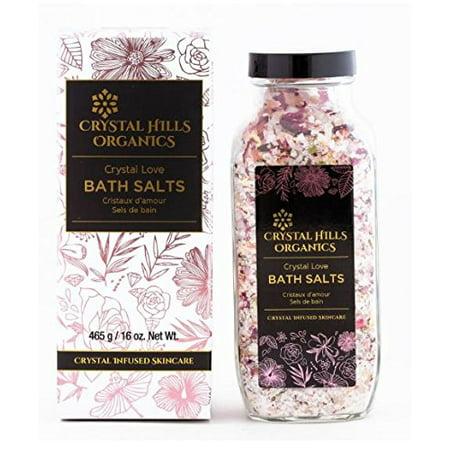 Crystal Hills Organics Sels de bain Crystal Love Rose Quartz