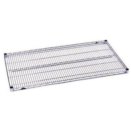 METRO 2460BR Wire Shelf, 24x60 in., Zinc Plated, PK4