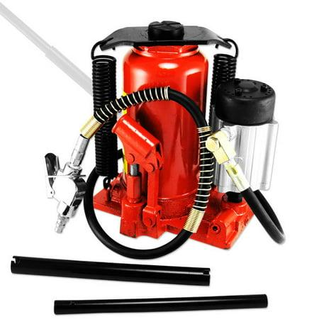 12 Ton Air & Hydraulic Manual Bottle Jack Shop Tools ()