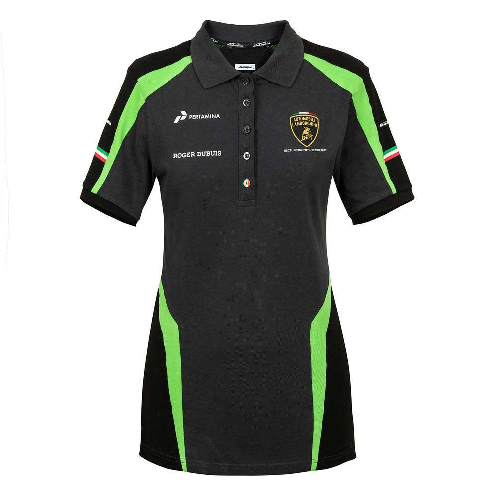 LAMBORGHINI 2020 Squadra Corse Mens Team Polo Shirt Black XXXL
