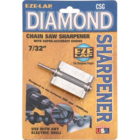 EZE-LAP CSG 7/32 Chainsaw Sharpener with Super Accurate Guide, Use with any drill, even cordless ones By EZE LAP Diamond Products Eze Lap Diamond Sharpener