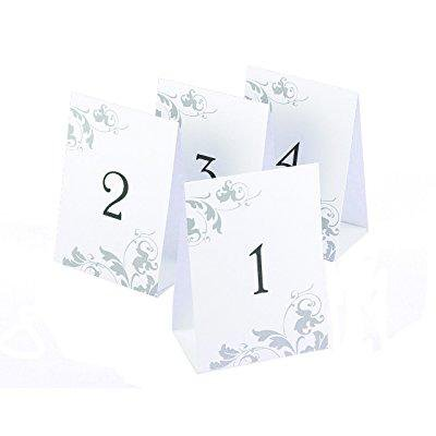 Country Style Table Centerpieces (hortense b. hewitt wedding accessories tent style table numbers 1 through 40, black ink on white with gray)