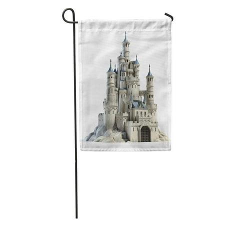 KDAGR Fantasy Castle 3D Fairytale Princess Medieval Royal Render Old City Garden Flag Decorative Flag House Banner 12x18 inch (Castle Custom Banner)