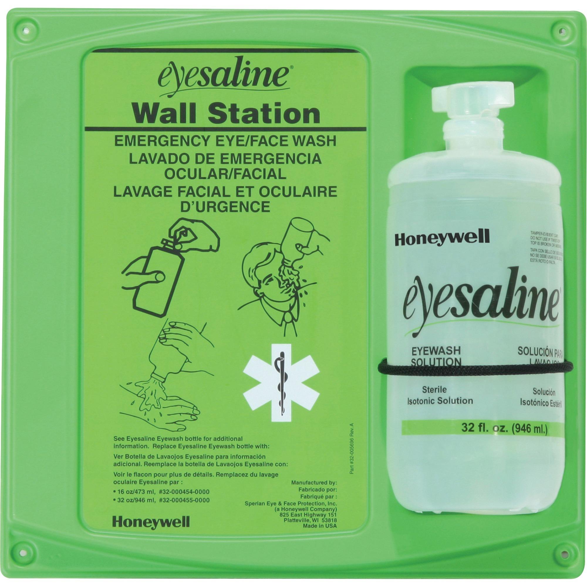 Honeywell, FND320004610, Fendall aline Eyewash Station, 1 Each, Green,Clear