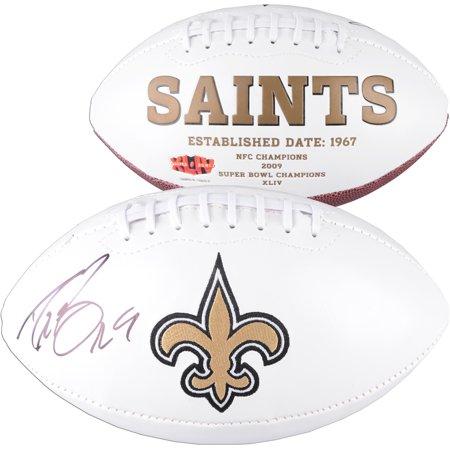 Drew Brees New Orleans Saints Autographed White Panel Football - Fanatics Authentic Certified