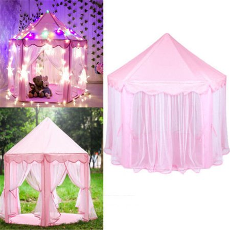 Greensen Tents for Girls, Kids Play Tent Princess Castle Play House Portable Children Outdoor Indoor Pink Princess Tent Girls Large Playhouse Birthday Gift - image 7 of 11