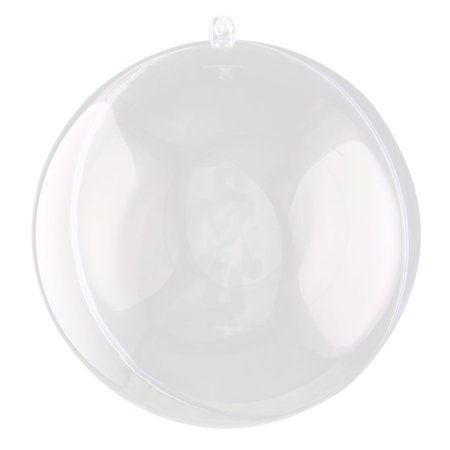 Holiday Plastic Spheral Shaped Hanging Christmas Ornament Gift Bauble Ball Clear