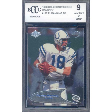 1998 coll edge odyssey 2q #172 PEYTON MANNING rookie BGS BCCG 9