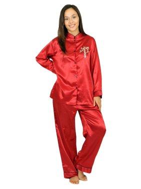 3a6dc90ce0a7 Product Image Up2date Fashion s Women s Mandarin Collar Pajamas