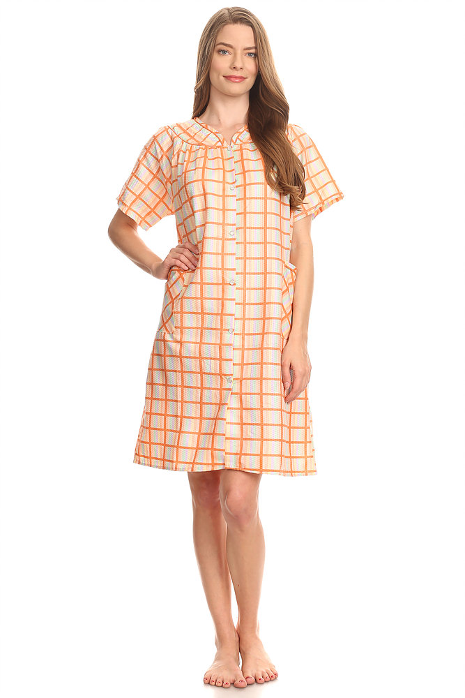 12017 Womens Nightgown Sleepwear Pajamas - Woman Sleeveless Sleep Dress Nightshirt Orange 2X