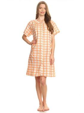 5a5313dede Product Image 12017 Womens Nightgown Sleepwear Pajamas - Woman Sleeveless Sleep  Dress Nightshirt Orange 2X