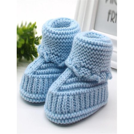 Toddler Newborn Baby Knitting Lace Crochet Shoes Buckle Handcraft