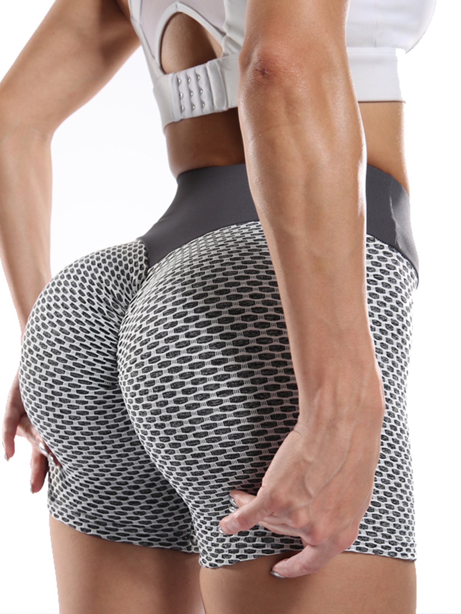 Details about  /Women Anti Cellulite Shorts Booty Butt Lifting Scrunch Yoga Sports Hot Pants Gym