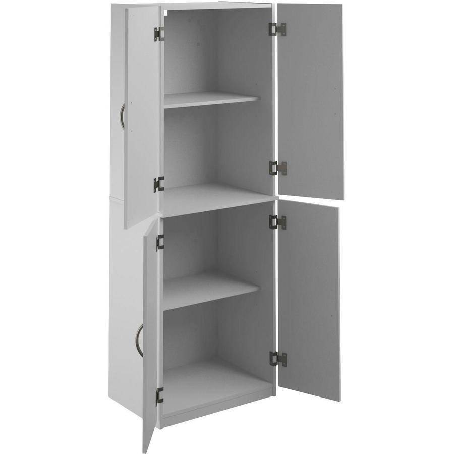 White Kitchen Shelf: Tall Kitchen Pantry Shelf Food Storage Adjustable Shelves