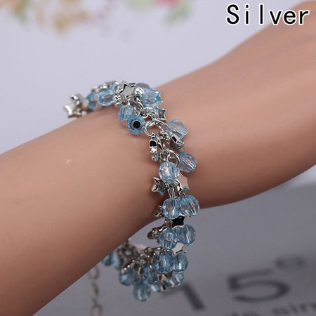 Fancyleo  Bracelet for Women Fashion Jewelry Wholesale Real Pure Six Tassels Beads Female Simple Special Brand (Real Simple Gift)