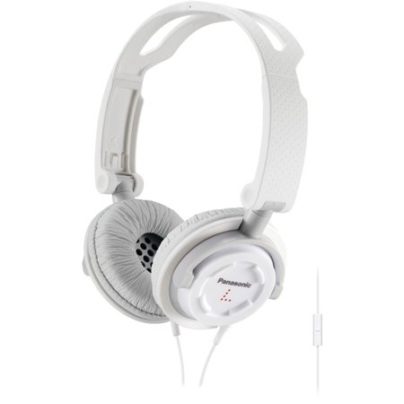 Panasonic FOLDZ On-Ear Headphones with Mic/Controller RP-DJS150M-W (White) Integrated iPhone iPod Android Compatible