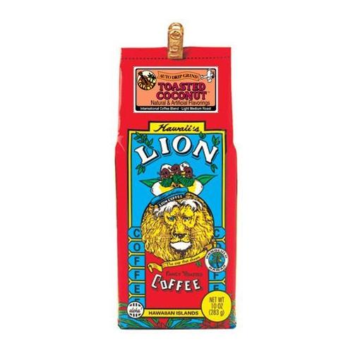 Lion Coffee Toasted Coconut 10 oz grind