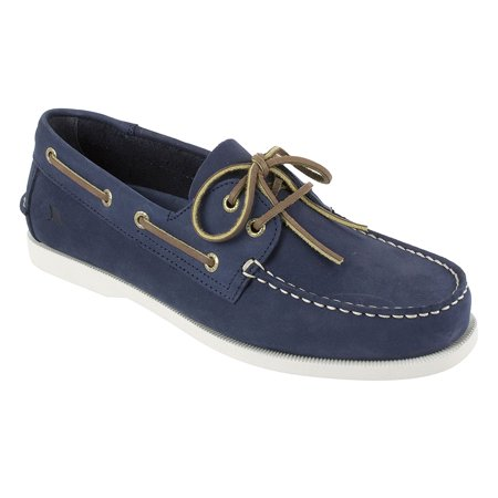 Rugged Shark Men's Boat Shoe, Classic Look, Premium Genuine Leather, with Odor Control Technology, Size 8 to
