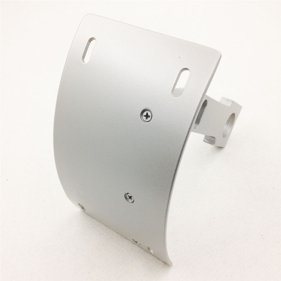 HTT Motorcycle Silver Vertical Curved Mount License Plate Bracket Tag Holder For Kawasaki 1998-2005 ZX-9/ 1996-2003 ZX-9R/ 2000-2005 ZX-12R/ 2006-2014 ZX-14R