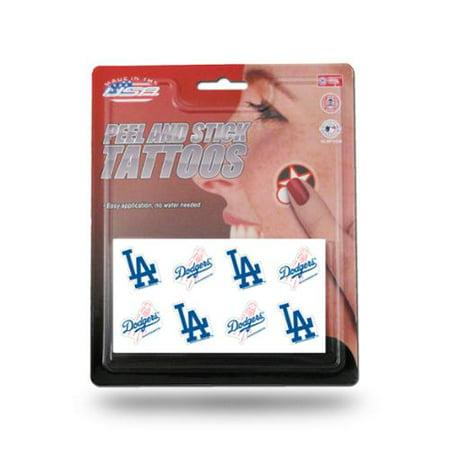 Los Angeles Dodgers officiel MLB 1 pouce x 1 pouce 8 pièces tatouage temporaire Définie par Rico Industries