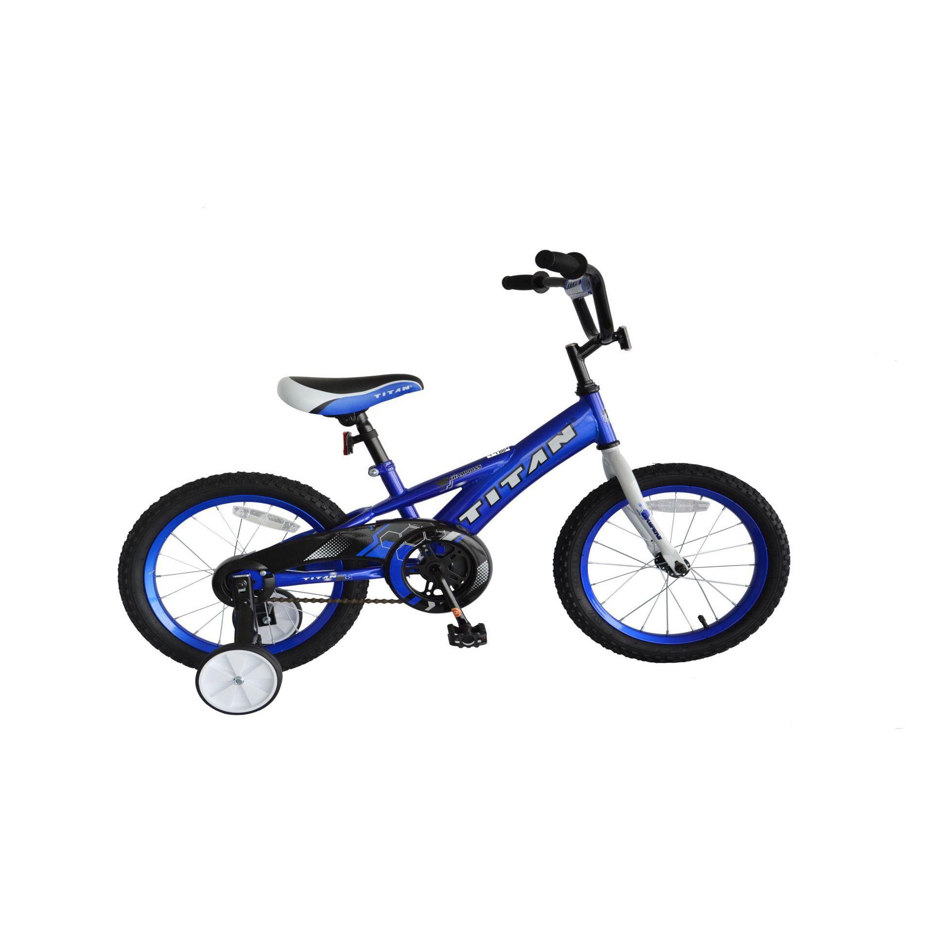 TITAN Champion Boys BMX Bike with Training Wheels, 16-Inch, Green by Titan
